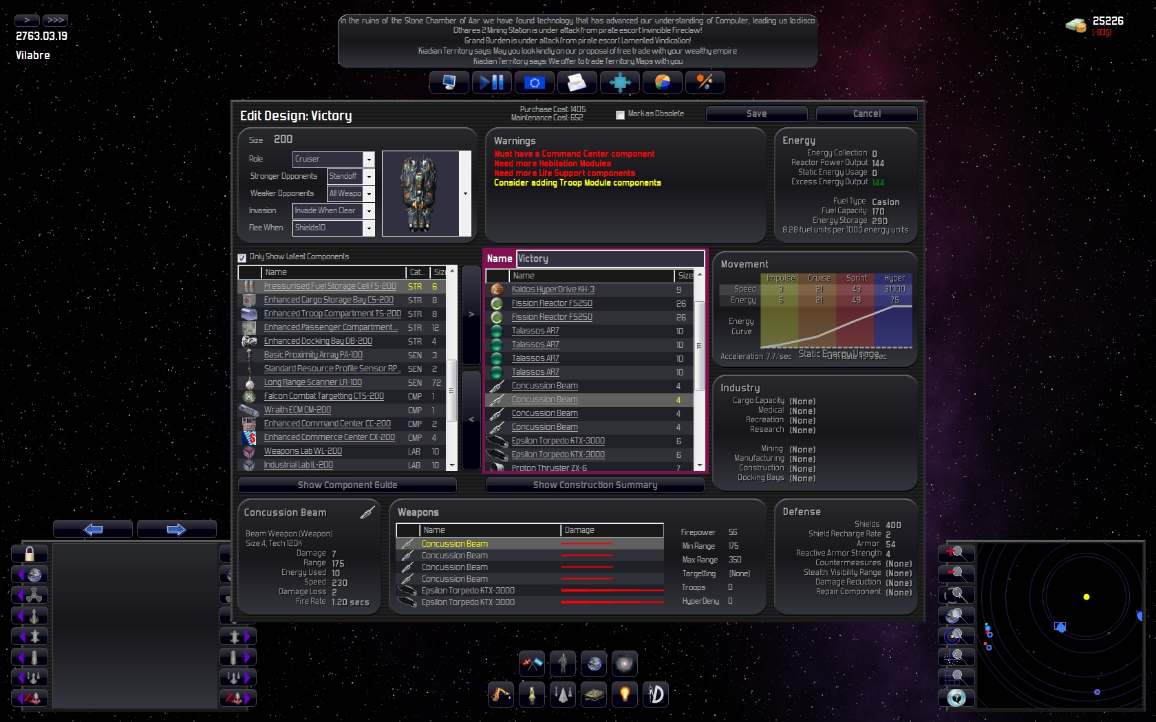 Distant Worlds A New Realtime X Space Strategy Game - Spaceship design game